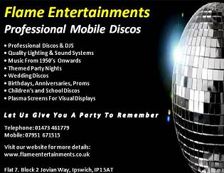 Wedding DJ's Flame Entertainments - Professional Wedding Discos Flat 7. Block 2 Jovian Way, Ipswich, Suffolk