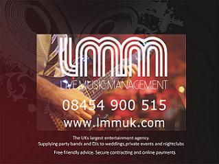 Wedding Entertainment Live Music Management LTD Unit 4,Canalot Studios , 222 Kensal Road,London